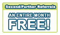 Second/Further Referrals Coupons